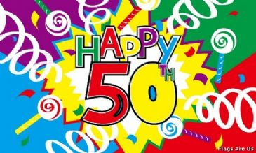 Happy 50th Birthday  (Streamers)